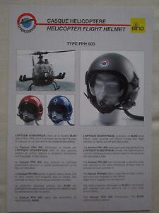 2000-039-S-DOCUMENT-OPTIQUE-SCIENTIFIQUE-ELNO-CASQUE-HELICOPTERE-HELMET-FPH-600