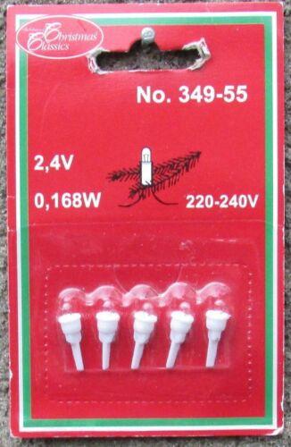 Ersatzbirnen Christmas Classics 5 Stück 2,4V//0,168W Micro Nr.349-55 neu//ovp
