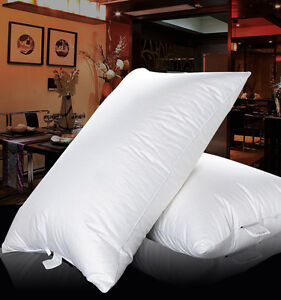 STANDARD SIZE  Goose Down Filled Pillow Feather White 100% Egyptian Cotton Cover