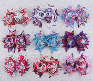 Lot-9pcs-baby-girl-4-alligator-clips-Boutique-grosgrain-hairbows-2783-1-9