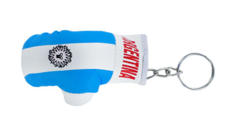 PORTACHIAVI pelle porta chiavi keychain Guantoni da boxe bandiera argentina