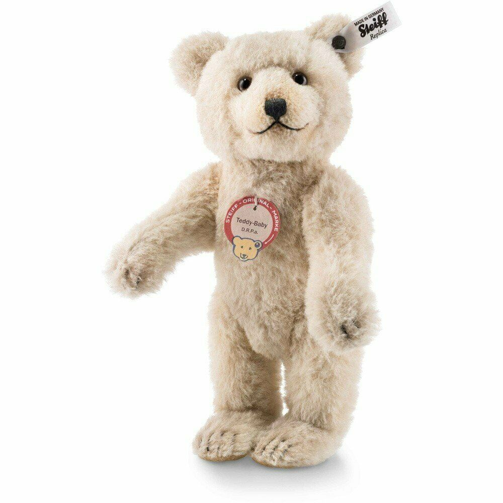 STEIFF TEDDY BABY REPLICA 1929 9.8 inches ALPACA BEAR with SQUEAKER - NRFB NEW