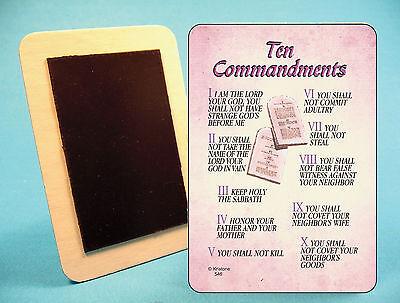 """sku# 546 /""""Ten Commandments/"""" Fridge Magnet"""