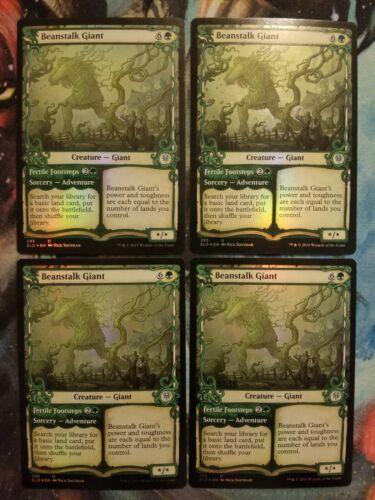 ** Magic The Gathering MTG Card Beanstalk Giant 4x FOIL SHOWCASE ** 50/% Off $30