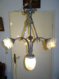 Jugendstil Deckenlampe,Hängelampe,Kronleuchter,3-armig