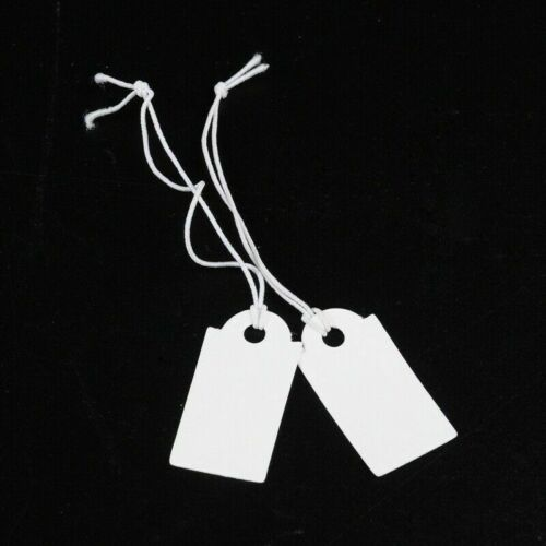 100pcs Paper Price Cards Rectangle White Clothing Display Tag Gift Message Card