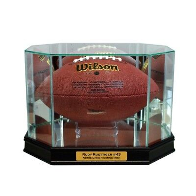 Autographs-original Sports Mem, Cards & Fan Shop Official Website New Rudy Ruettiger Notre Dame Glass And Mirror Football Display Case Uv Complete Range Of Articles