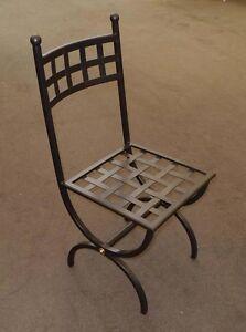 Sedie In Ferro Battuto Usate.Dettagli Su Sedia Ferro Battuto Realizzazioni Personalizzate 445