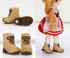 Obitsu 11cm Body Fashion Plastic Doll Shoes Magnet Short Boots Beige