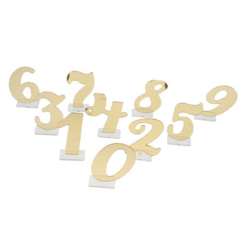Acryl 0-9 Tischnummern Tischdekoration Tischzahlen Platznummern für