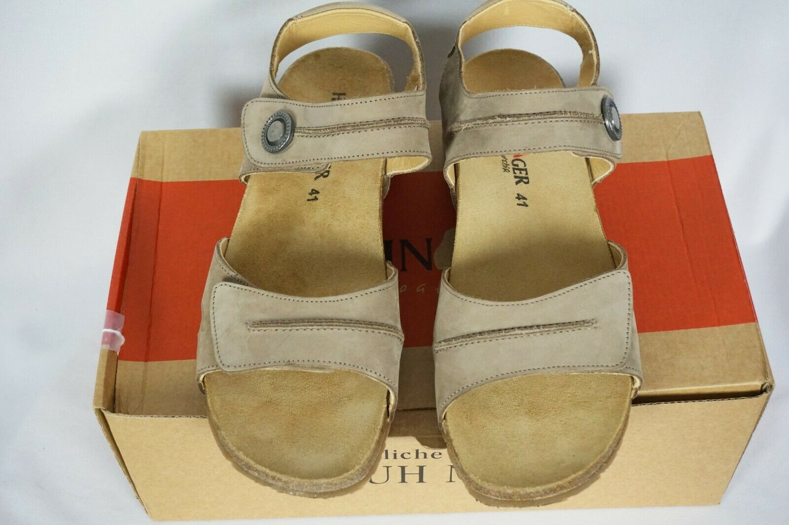 Haflinger Patricia Ankle Strap Sandals in Stone Stone Stone Taupe Sz 41   US 10 10.5 Worn 1X 73effb