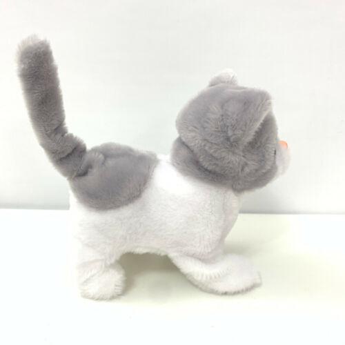 Meowing Walking Wagging Tail Electronic Plush Cat Moving Pet Battery Kitty