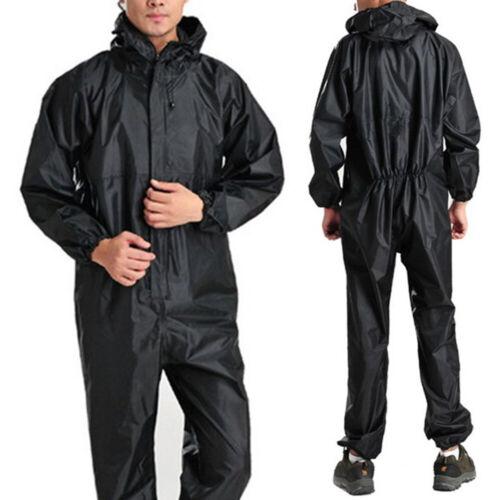 Outdoor Men Waterproof Raincoat Rain Suit One-Piece Overalls Jumpsuit Raincoat