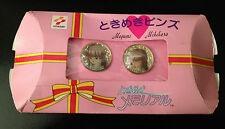 Konami Tokimeki Memorial Girl Side Megumi Mikihara Pin Set Pinback Enamel Metal
