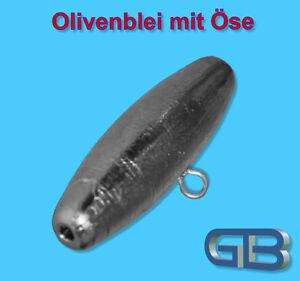 Olivenblei-Sea-Boom-40g-60g-80g-100g-Durchlaufblei-Waller-Blei-Angelblei-Ose