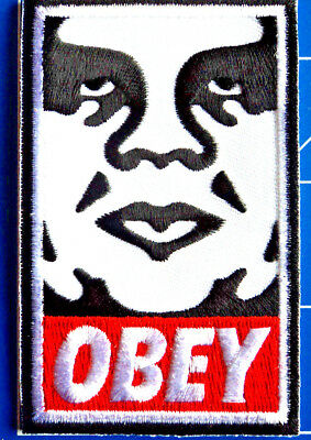 OBEY FACE LOGO PATCH DRESS UP YO RAGGEDY ASS!