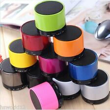 MINI PORTABLE SPEAKERS SOUND WIRELESS BLUETOOTH IPHONE IPAD MP3 BOXED COLOUR UK