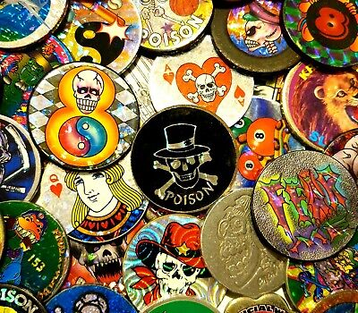 Disney // Pogman etc 90's Pogs Vintage Retro Gaming 10x Random Pogs Bundle