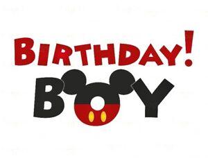 Image Is Loading DISNEY BIRTHDAY BOY MICKEY MOUSE T SHIRT IRON