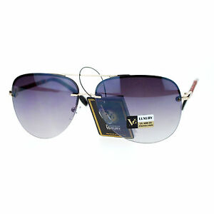 f41122980d5 Womens Rimless Aviator Sunglasses Designer Fashion Top Bar Aviators ...