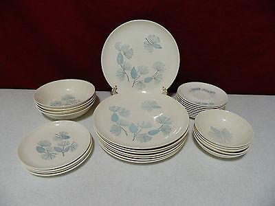 27 Piece Set Marcrest Blue Spruce Dinnerware Lot