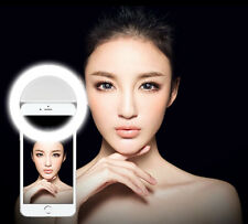 Beauty Selfie LED Ring Flash Light Clip Camera For SmartPhone Samsung Huawei LG