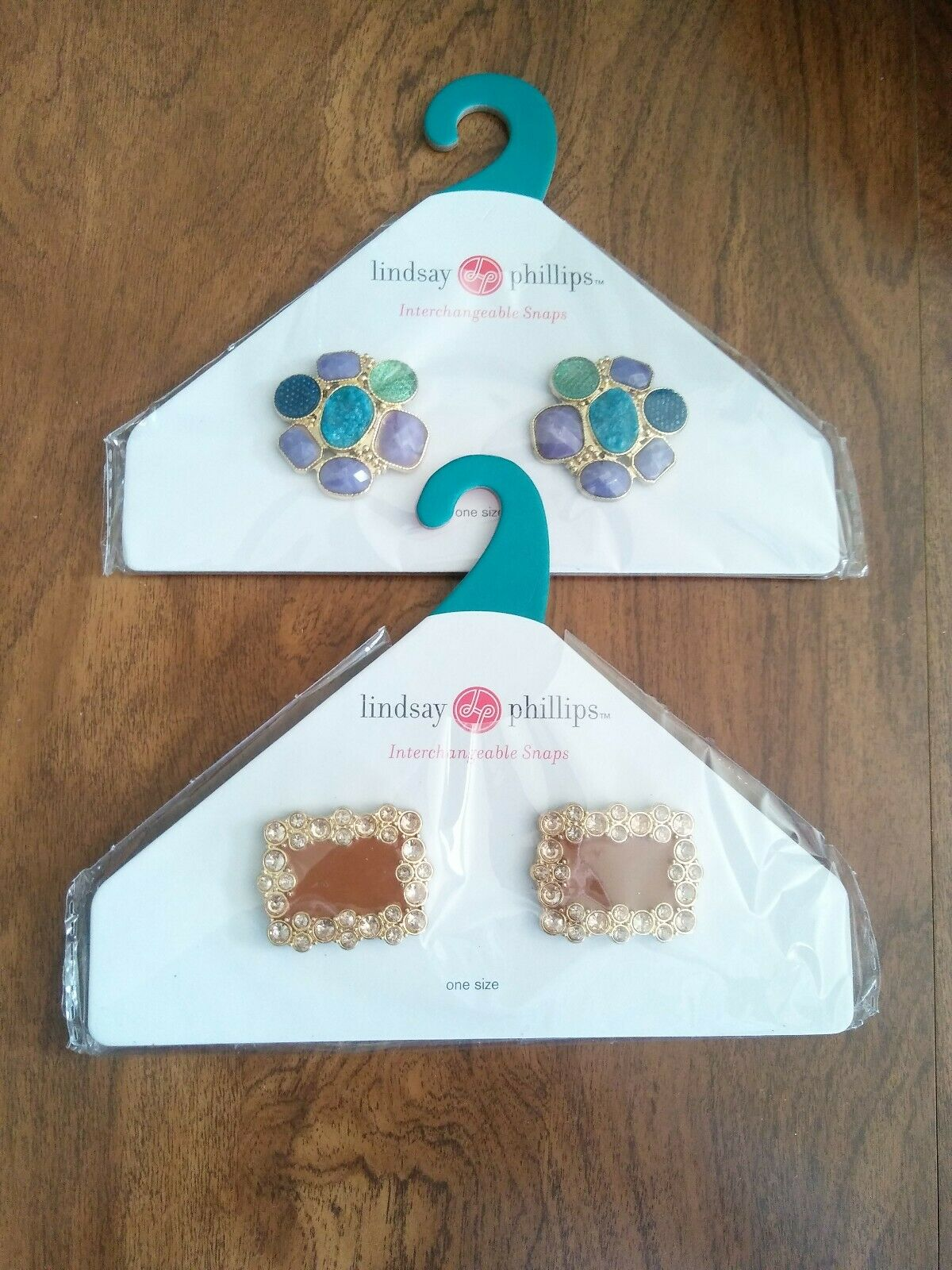 Lindsay Phillips Interchangeable Snaps • LYDIA • SEURAT • 2 Pair Lot - One Size