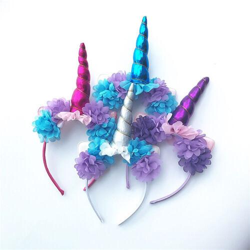 Baby Girl Unicorn Plush Fluffy Ear Horn Head Hair Party Headband Cosplay Decor