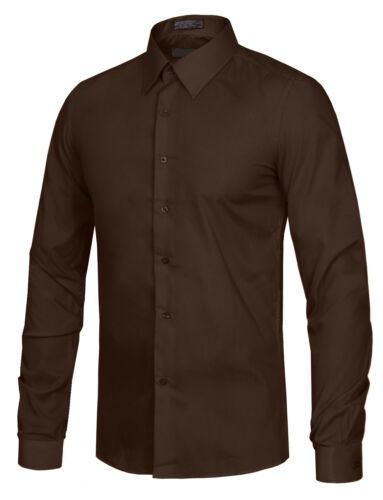 NE PEOPLE Men/'s Slim Fit Button Down Long Sleeve Dress Shirt NEMT104