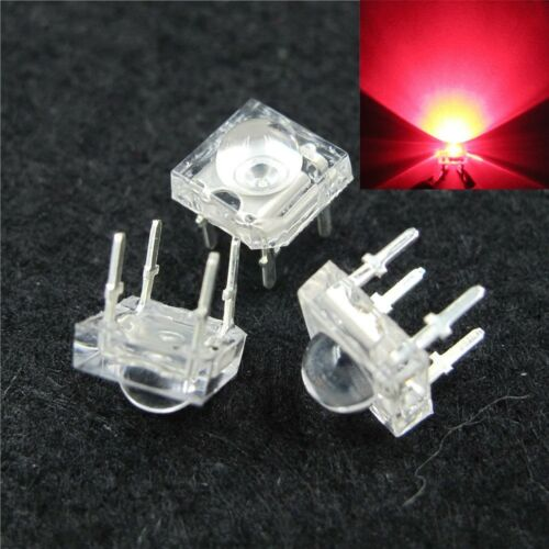 S390-50 pezzi LED 5mm ROSSO Superflux Piranha 120 ° LED