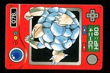 POKEMON JAPANESE BANDAI POCKET MONSTERS POKEDEX N°   76 GOLEM GROLEM