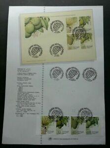 SJ-Portugal-Fruits-And-Sub-Tropical-Plants-1990-Banana-stamp-on-info-sheet