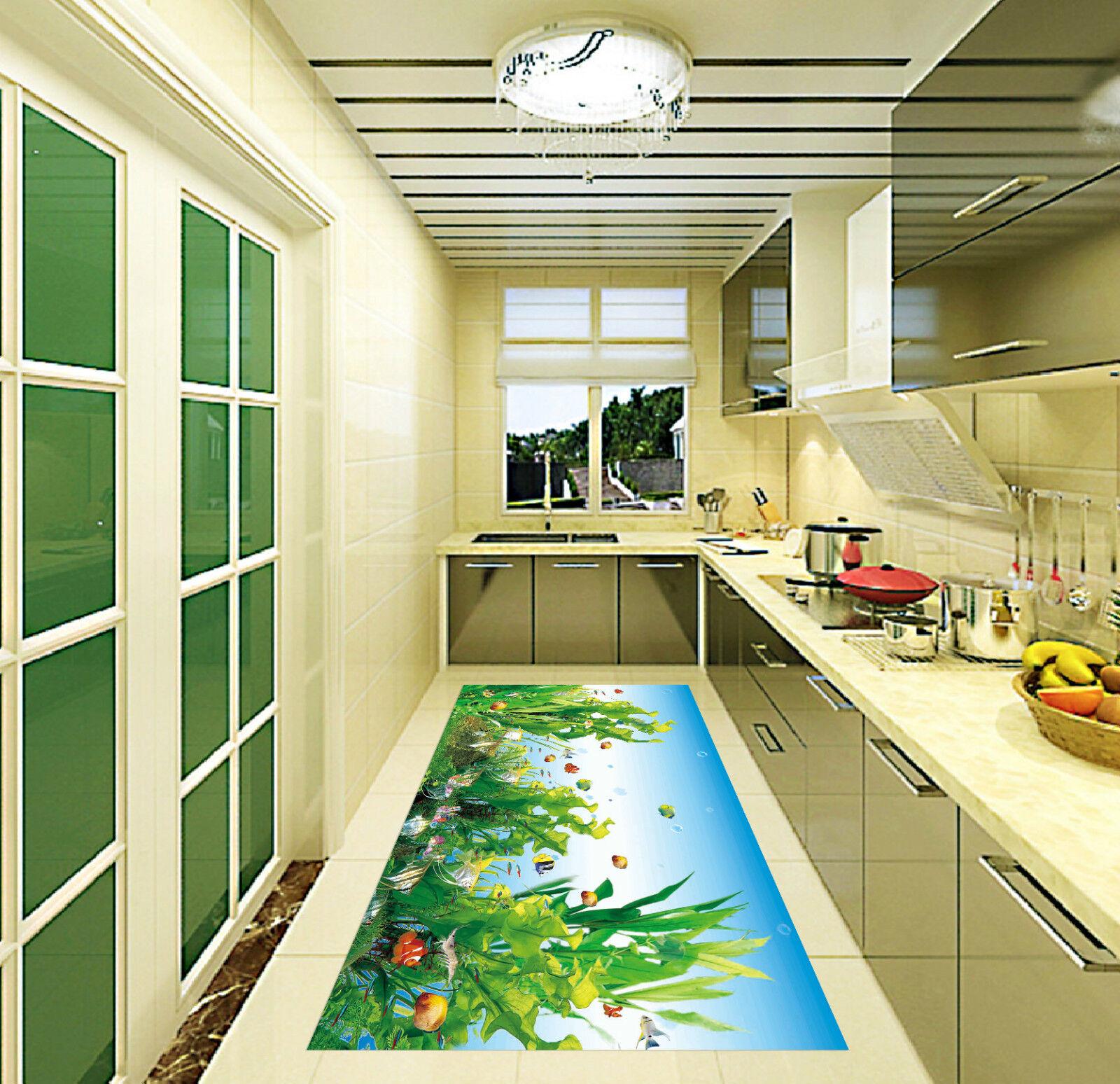 3D Sea Plants 201 Kitchen Mat Floor Murals Wall Print Wall Deco AJ WALLPAPER CA