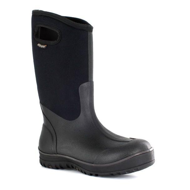 Bogs Mens Black Ultra High Rubber Waterproof Pull On Slip Resistant Work Boot