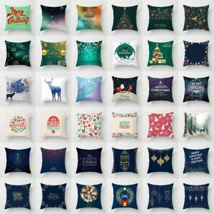 Cubierta-Cojin-De-Navidad-Santa-Copo-De-Nieve-Decoracion-Hogar-Coche-Sofa-Almohadon-Funda