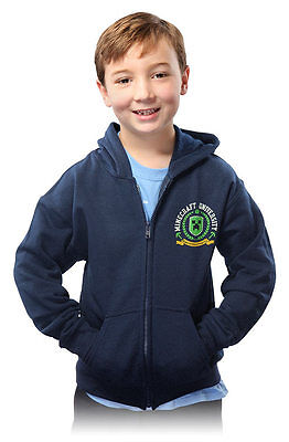 Licensed Minecraft University Youth Kids Hoodie **Brand New**  EXPRESS SHIP