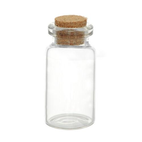Fashion 5PCs Small Vase Tiny Glass Bottle Jewelry Vial Potion Tie Plug JD