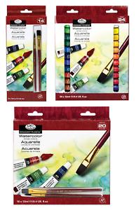 Royal Langnickel Acquerello Artista Pittura & Spazzola Set 12ml Tubo Packs 12 18