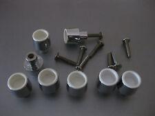 8 x Möbelknopf Griff Schrankknopf Schubladengriff 1,8x2,3cm,Silber,Schrauben25mm