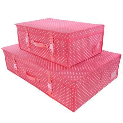 b819987b53a7 Hangerworld™ Pink Polka Dot Storage Travel Box Wedding Bridal Dress Carry  Case | eBay