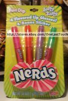 Lotta Luv 4pc Set Nerds+fun Dip+laffy Taffy Lip Gloss Wand+sticker Lipgloss 1/2