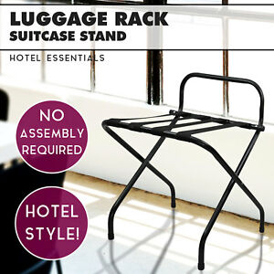 Image Is Loading Black Folding Luggage Rack For Hotels Suitcase Rack