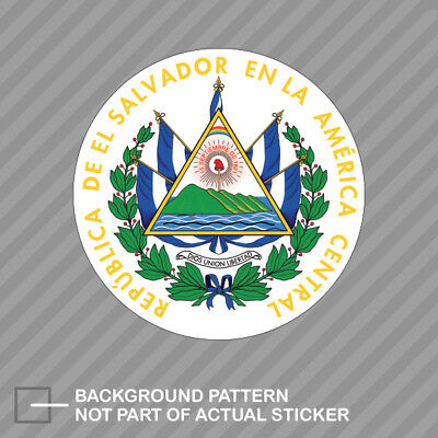 Coat of Arms of El Salvador Sticker//Car Decal Multiple Sizes