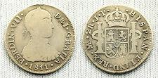 FERNANDO VII 2 REALES 1811 JP LIMA VF-/MBC- SILVER/PLATA 6,2 MUY RARA Y ESCASA