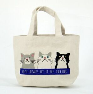 Image Is Loading Narumikk Taachan Cat Tote Bag With Inside Pocket