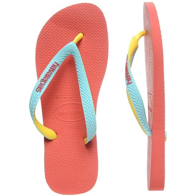 b1329786e Kids Havaianas Flip Flops Brasil Logo Top Summer Beach 27 28 Sz 10 11