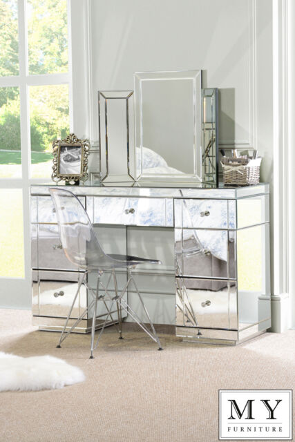 Large Mirrored furniture Dressing Console table/ desk -Valeria (ID:524)
