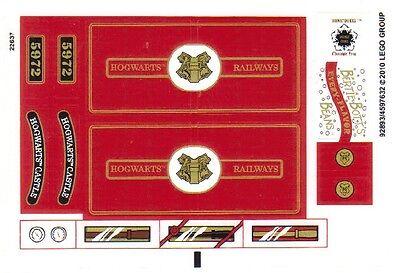 Hogwarts Express LEGO 4841 3rd edition Harry Potter - STICKER SHEET
