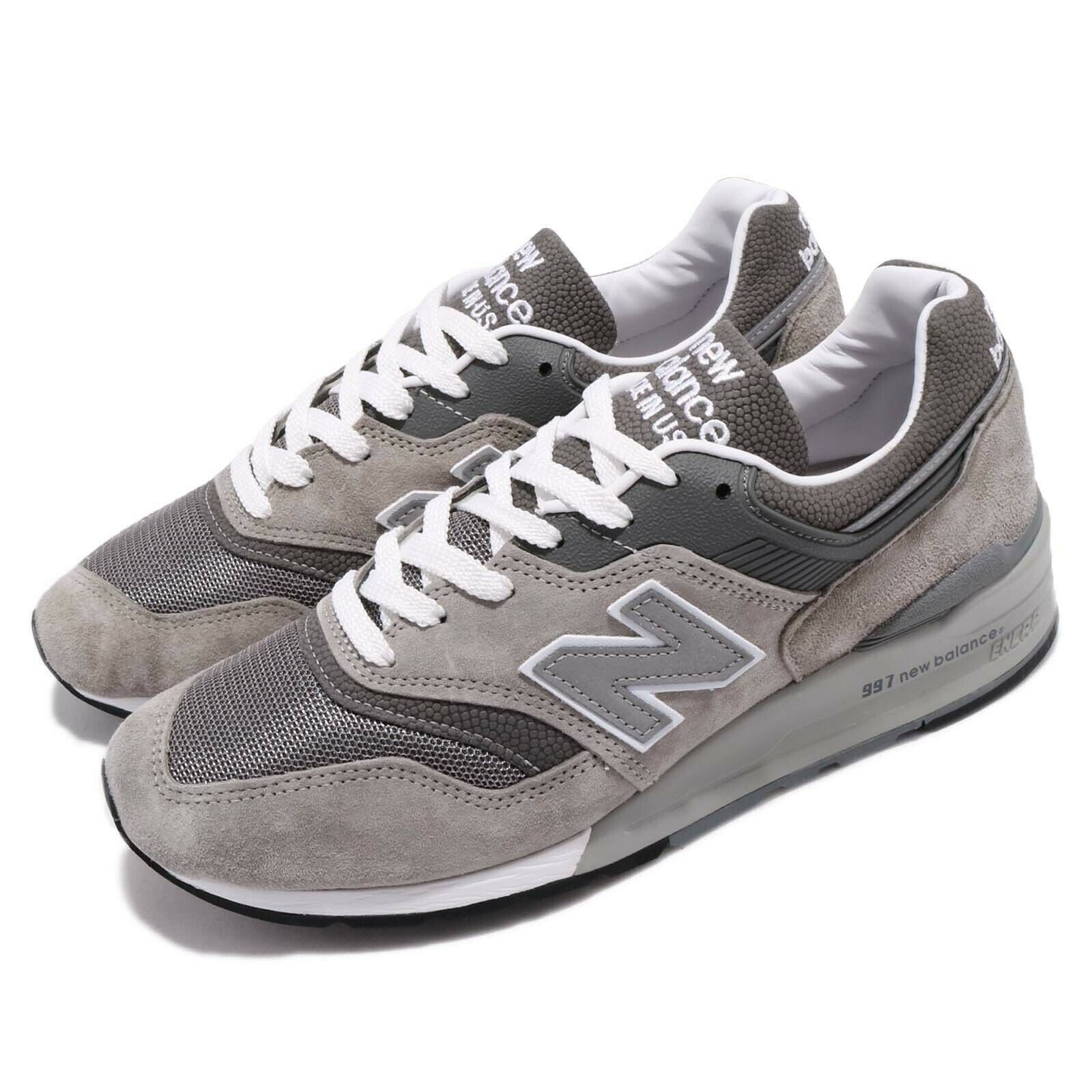 New Balance M997GY D Made In USA gris Men mujer Running zapatos zapatillas M997GYD