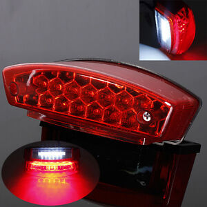 12v Universal Led Motorcycle Quads Maltese Cross Tail Brake Lamp Rear Red Light Wide Selection; Accessories